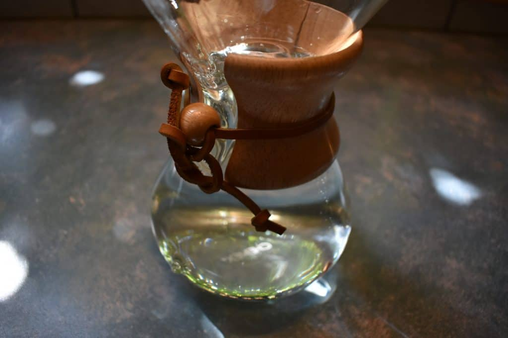 Chemex filled with water