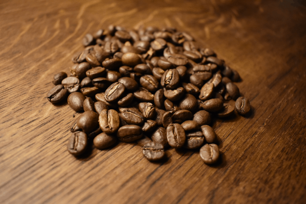 Photo of coffee beans used in the James Hoffmann technique