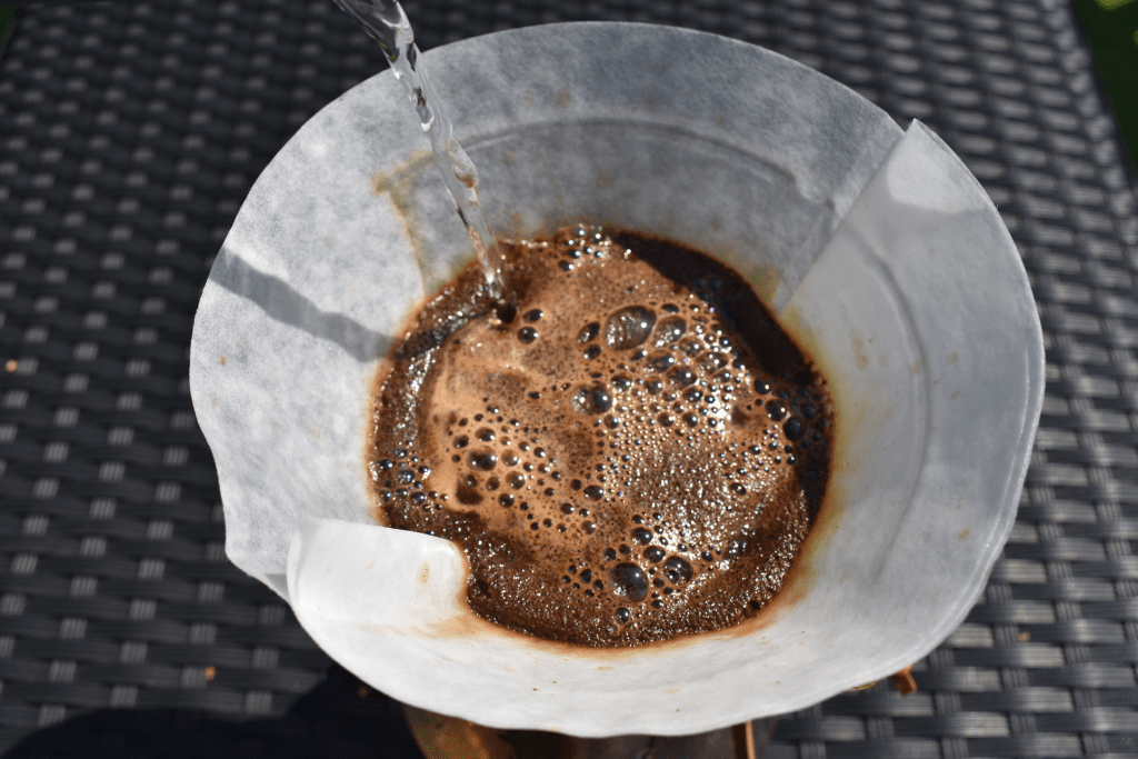 Start of chemex brewing