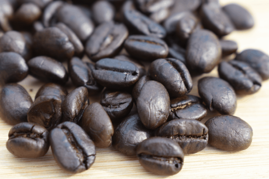 Dark roast coffee, to check for the oily surface