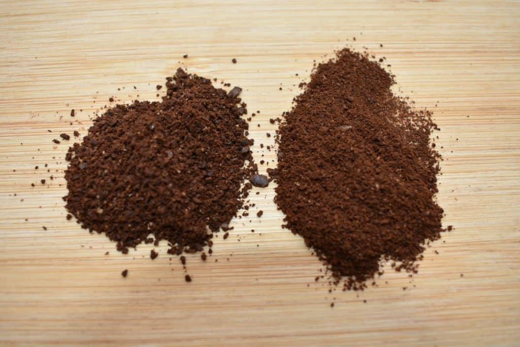 Coffee grind size comparison