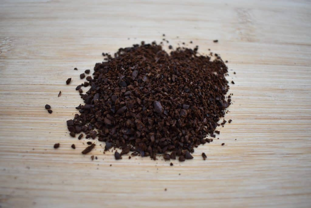 Coffee with a tea infuser, coarsely ground coffee beans
