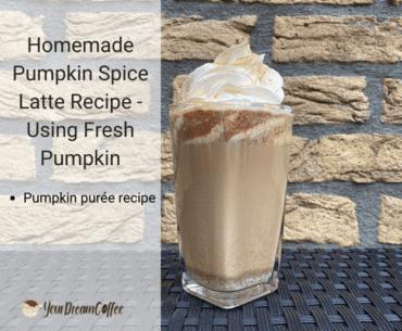 Homemade Pumpkin Spice Latte Recipe - Using Fresh Pumpkin