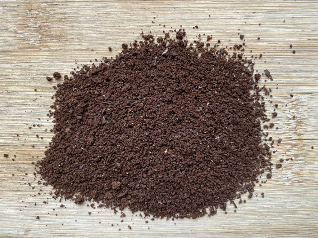 """""""Ground coffee beans, ground for the use of Hario V60 brewing"""""""