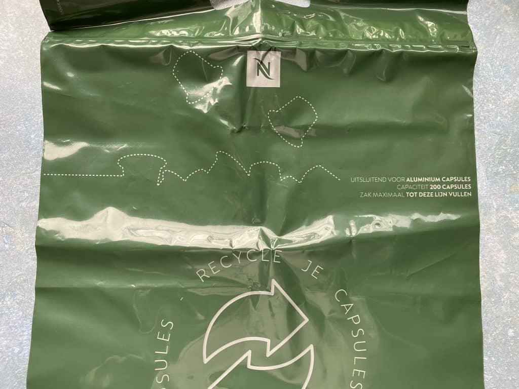 Recycling bag of Nespresso
