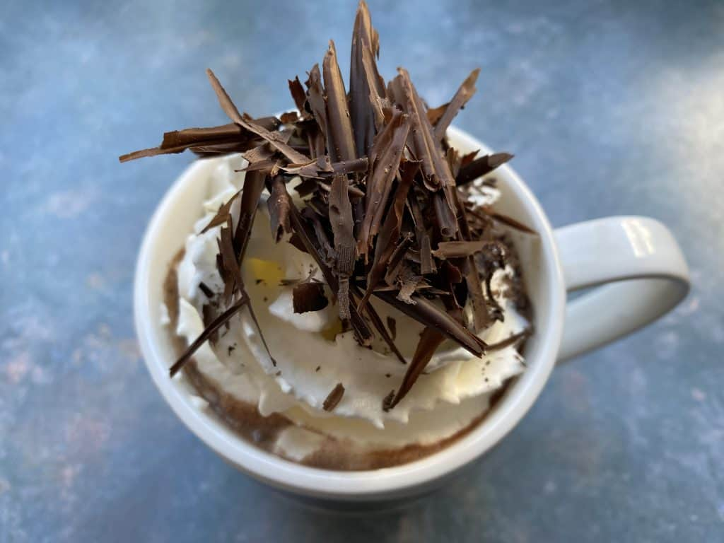"""Hot chocolate with coffee"""