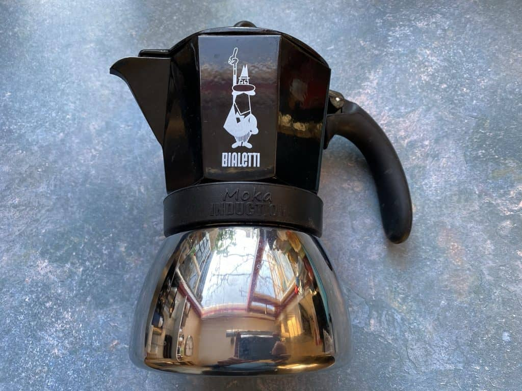 """""""Moka pot induction, which I use to brew coffee"""""""