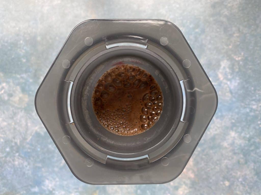 """Blooming coffee using the inverted AeroPress method."""