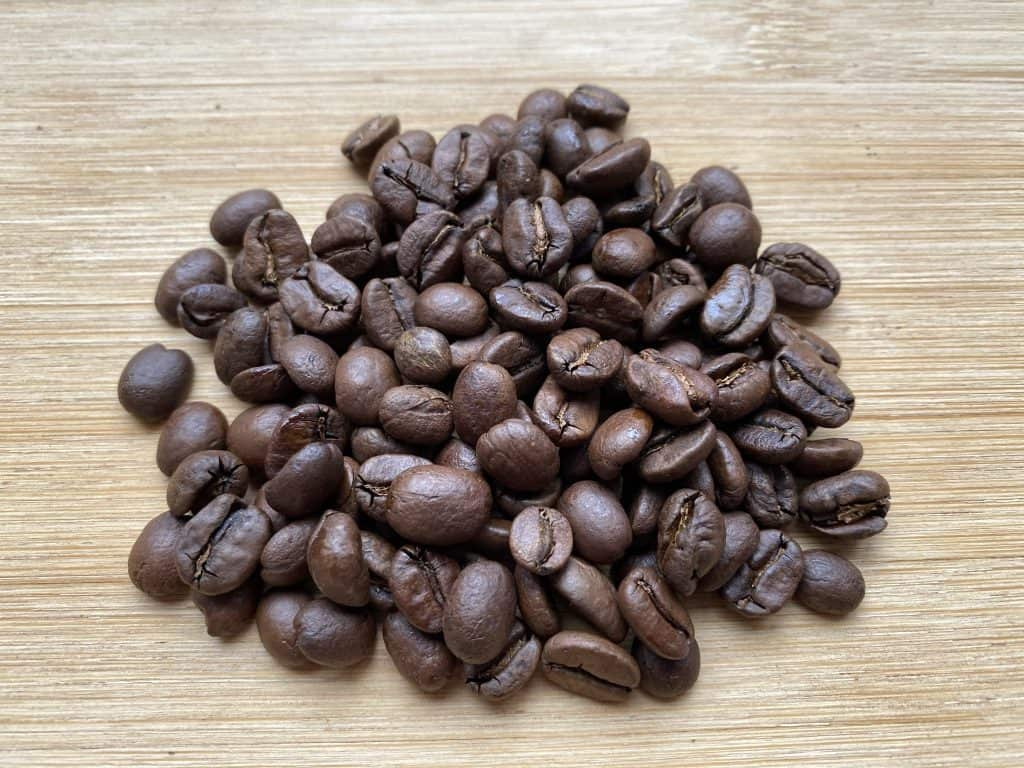 """""""Medium roasted coffee beans I used for this recipe."""""""