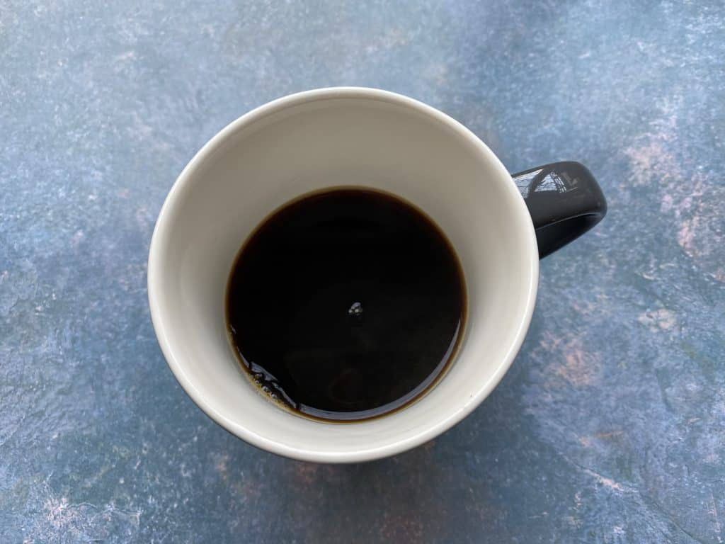 """""""Americano coffee in a mug."""""""