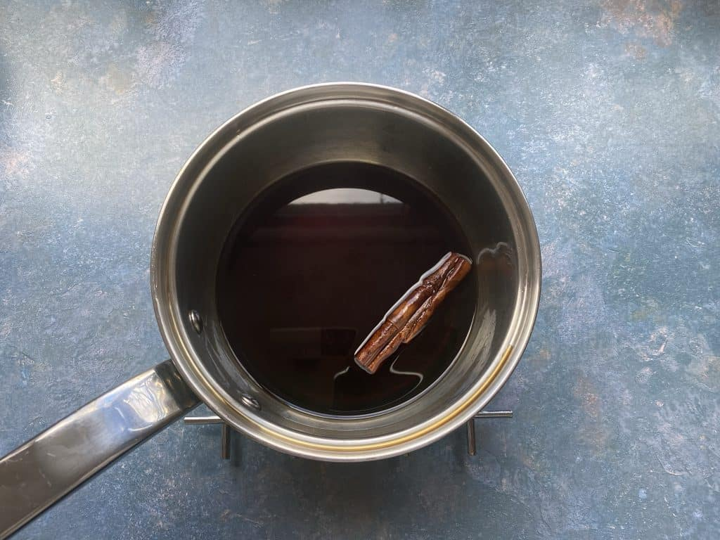 """""""Brown sugar syrup infused with a cinnamon stick."""""""