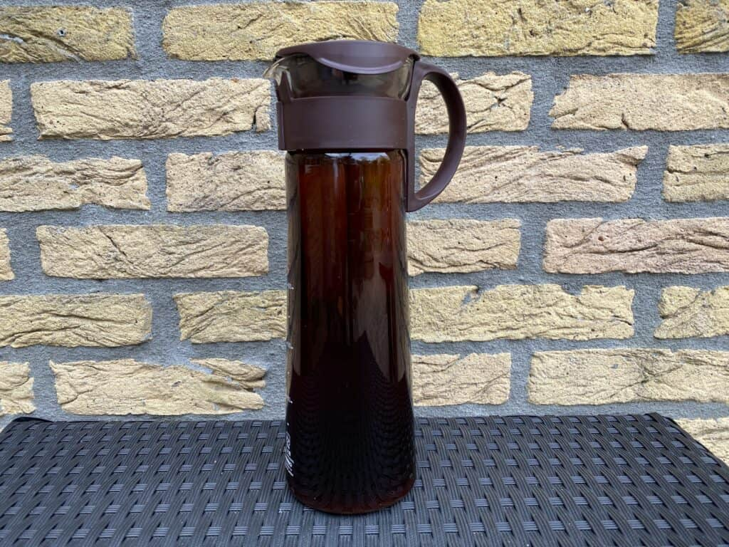"""""""Steeped cold brew coffee with the Hario Mizudashi."""""""