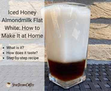 Iced Honey Almondmilk Flat White: How to Make It at Home