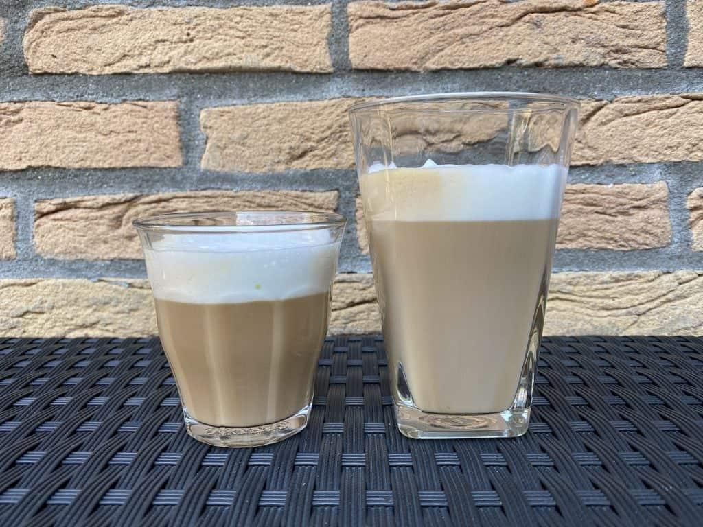 """""""Macchiato vs. latte coffees compared."""""""