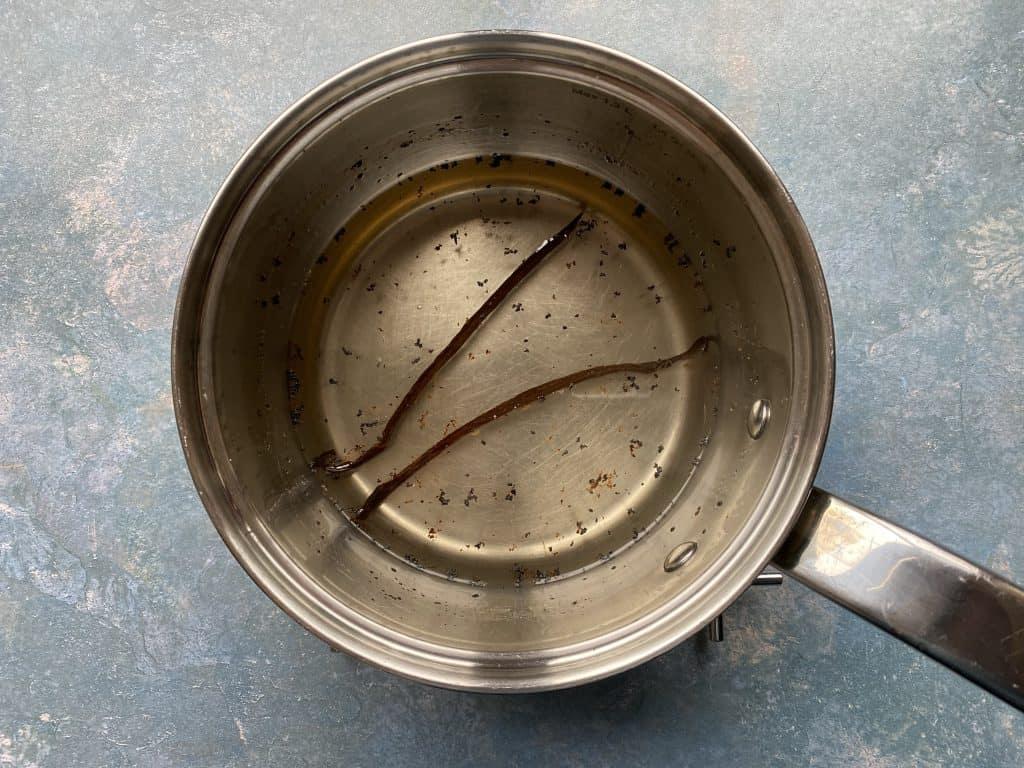"""""""Vanilla sugar syrup in a small saucepan."""""""