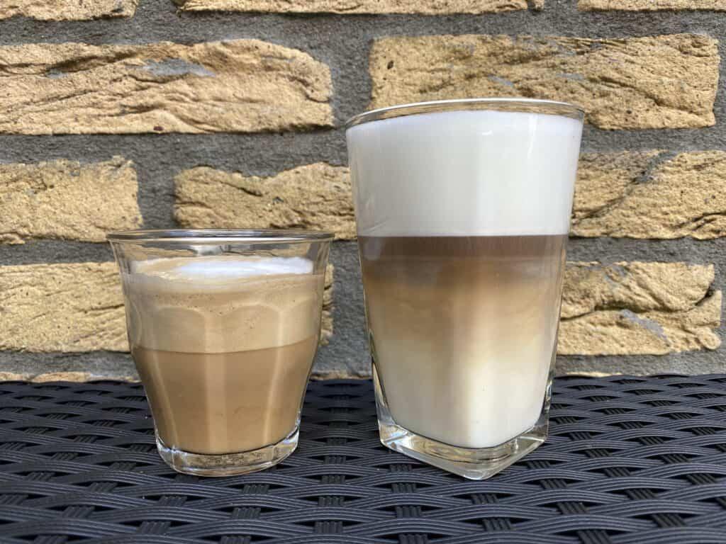 """""""Cappuccino vs. latte."""""""