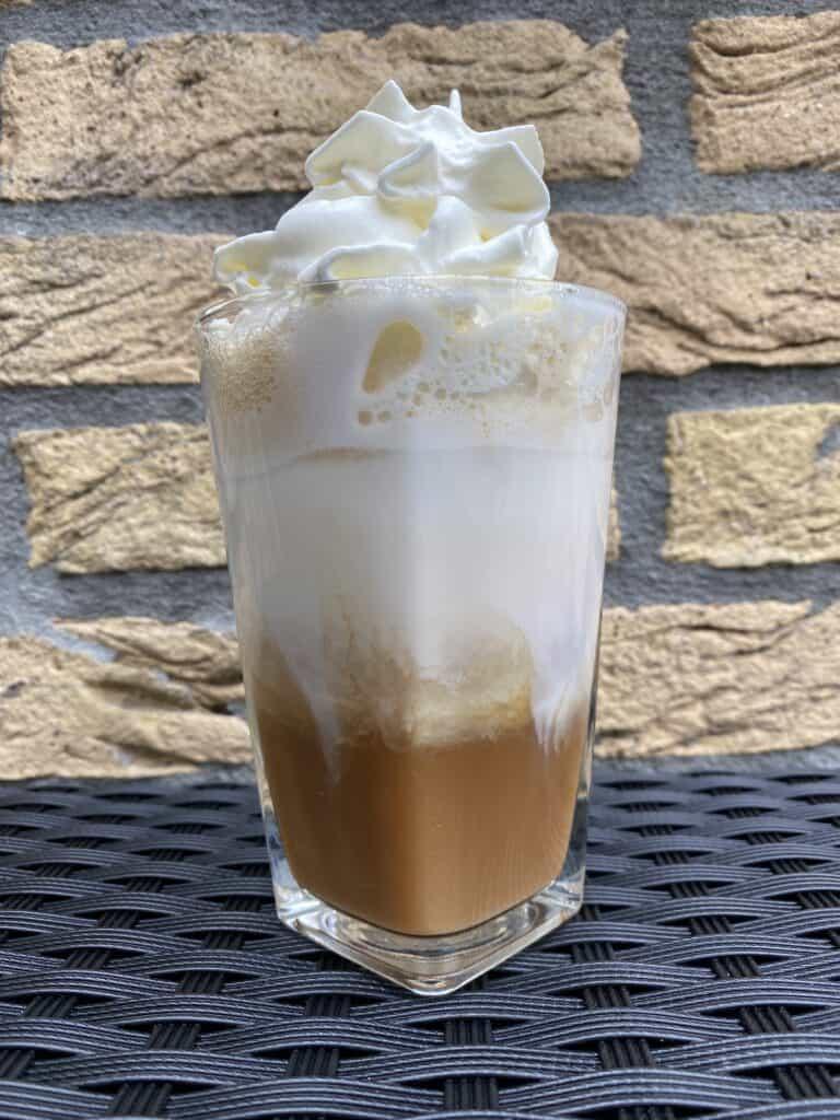 """Iced caramel latte."""