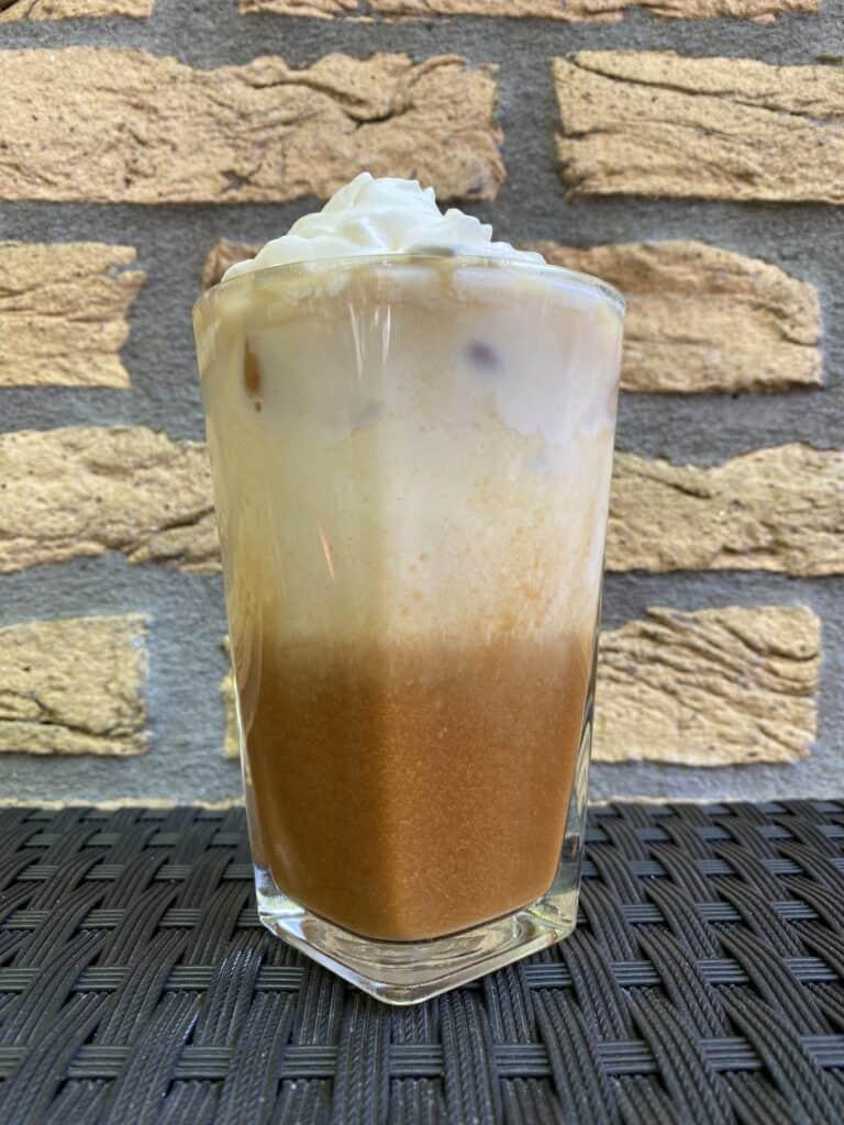 """Iced Biscoff latte."""