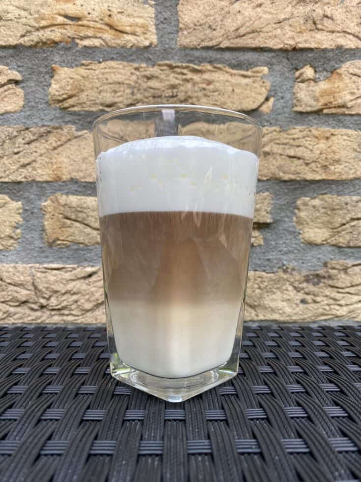 Latte coffee finished.
