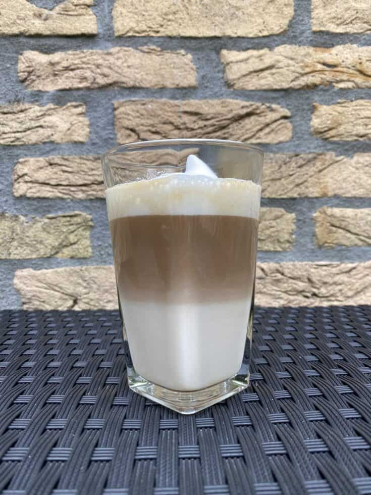 Caramel latte recipe.