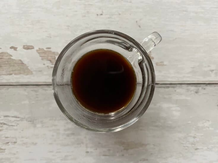 Espresso made in a French press.