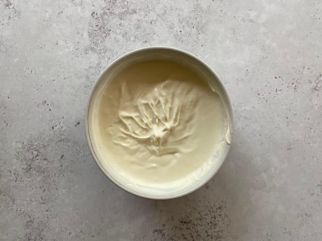 Homemade vanilla whipped cream, ready to use.