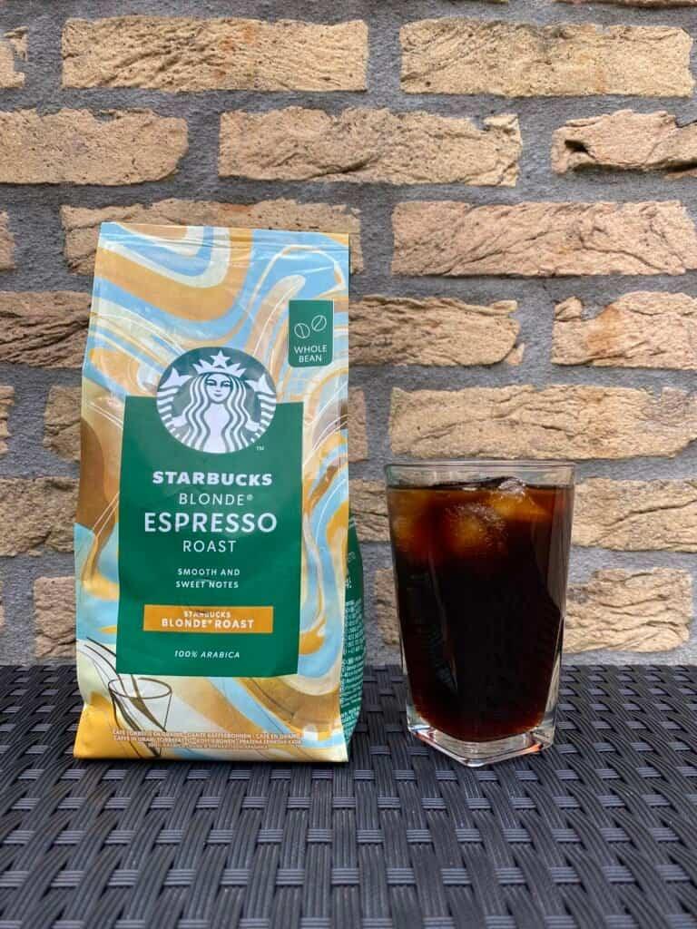 Starbucks blonde roast iced coffee.