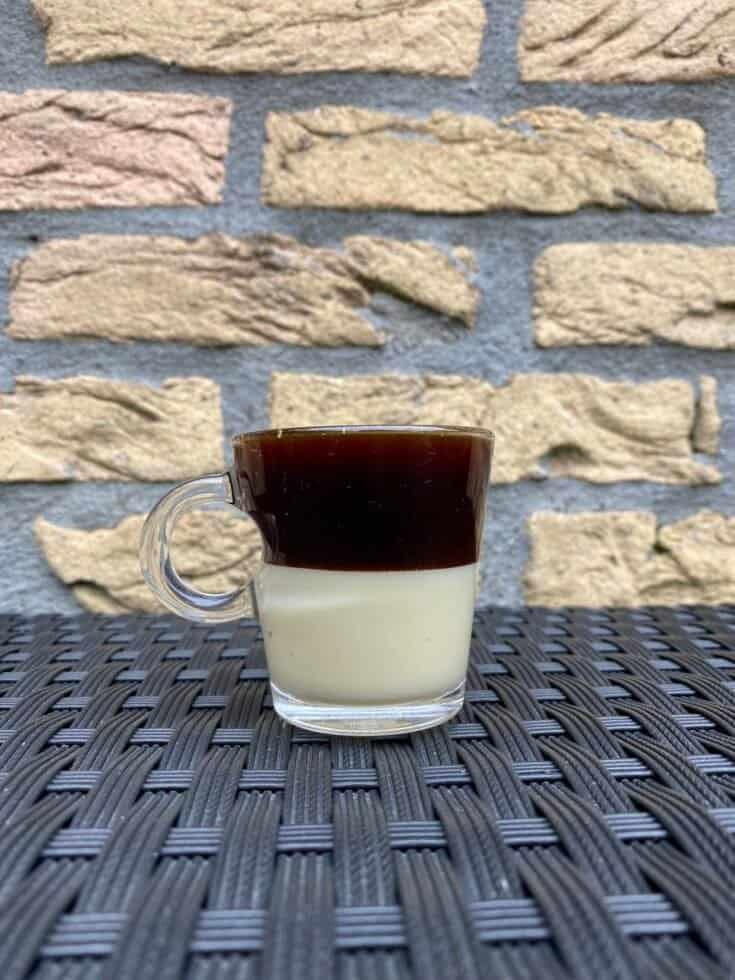 A homemade Café Bombon.