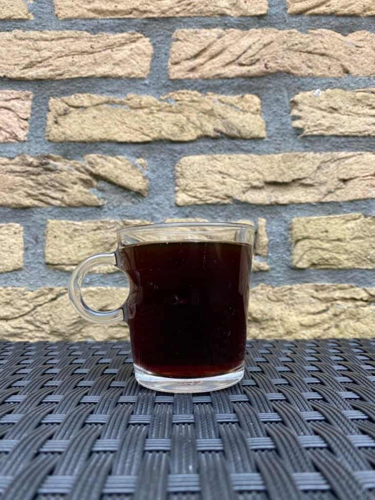 Hot cold brew coffee.