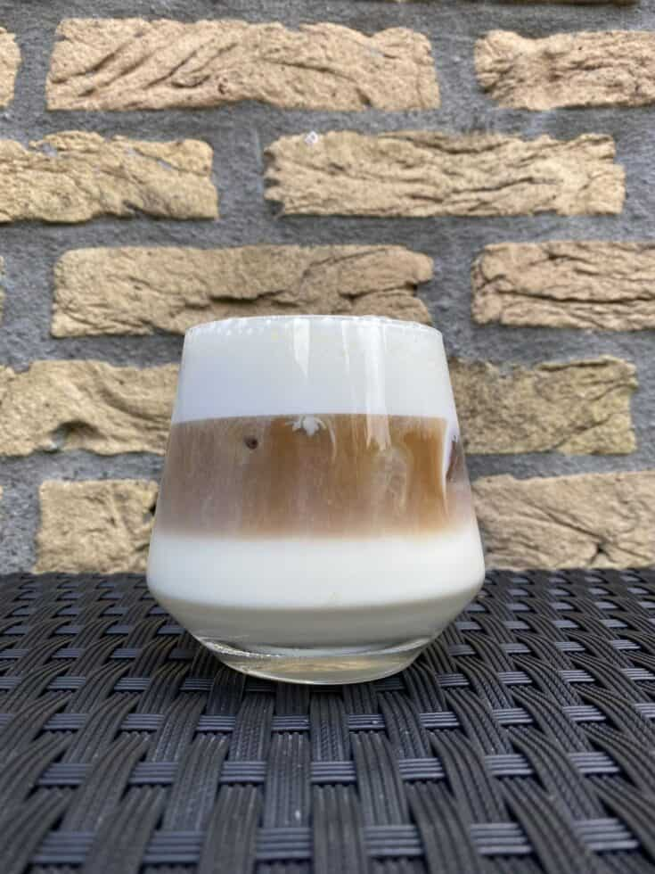 Iced cappuccino, ready to drink.