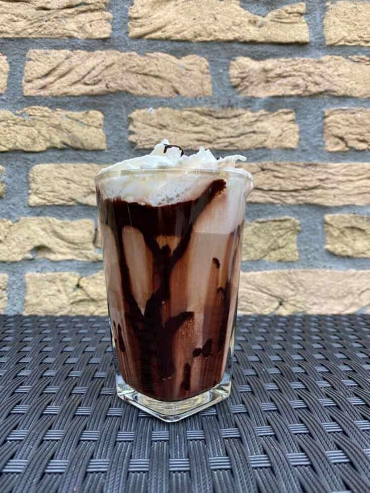 Mocha latte, ready to drink.